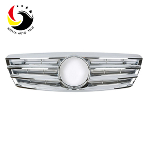 Benz C Class W203 AMG Style 00-06 Chrome Silver 2-Fin Front Grille