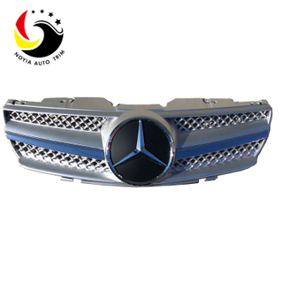 Benz SL Class R230 AMG Style 03-07 Silver 1-Fin Front Grille