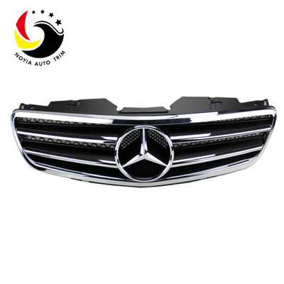 Benz SL Class R230 AMG Style 03-07 Chrome Black 2-Fin Front Grille