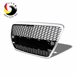Audi A6 05-07 RS Style Chromed Frame Black Grid Front Grille (No Logo)