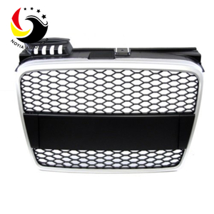 Audi A4 05-07 RS Style Chromed Frame Black Grid Front Grille (No Logo)