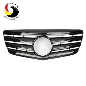 Benz E Class W211 AMG Style 07-09 Gloss Black 2-Fin Front Grille