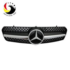Benz E Class W215 AMG Style 00-06 Gloss Black 1-Fin Front Grille