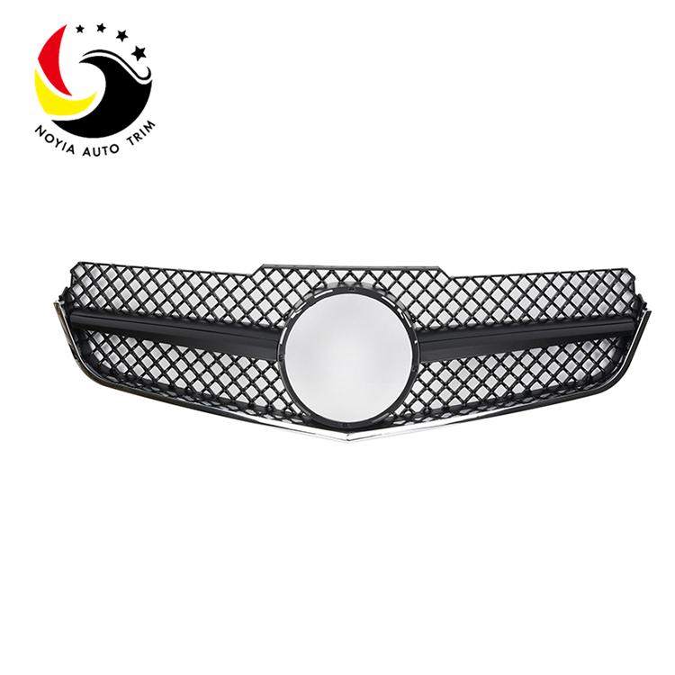 Benz E Class W207 AMG Style 10-13 Matte Black 1-Fin Front Grille