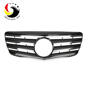 Benz E Class W211 AMG Style 07-09 Chrome Black 2-Fin Front Grille