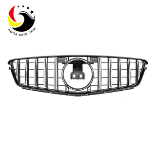 Benz C Class W204 GTR Style 08-14 Chrome Silver Front Grille