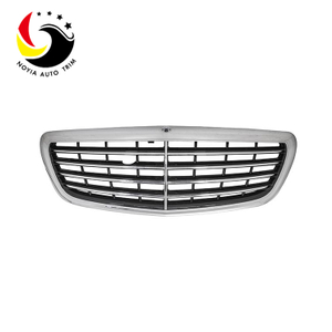 Benz S Class W222 14-17 Original Style Chrome Silver Luxury-equiped Front Grille