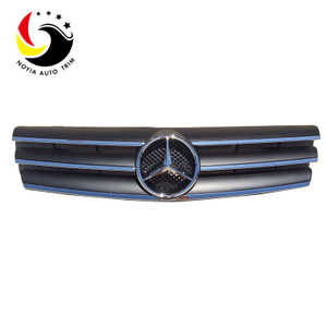 Benz SL Class W129 AMG Style 90-02 Chrome Black 3-Fin Front Grille