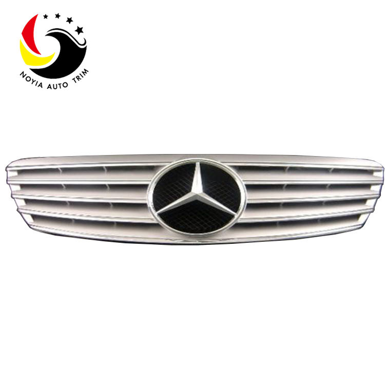 Benz S Class W220 Sport Style 99-02 Silver Front Grille