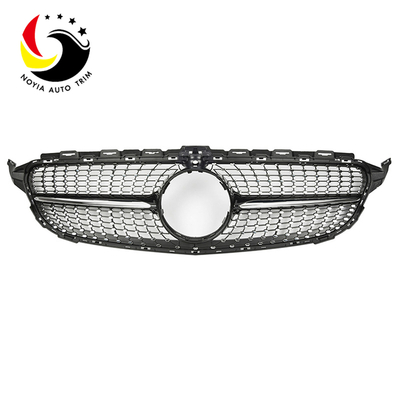 Benz C Class W205 AMG Style Diamonds 15-IN Black Front Grille