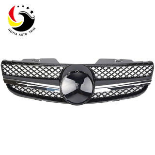 Benz SL Class R230 AMG Style 07-09 Chrome Black 1-Fin Front Grille