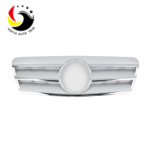 Benz CLK Class W208 AMG Style 98-02 Silver 3-Fin Front Grille