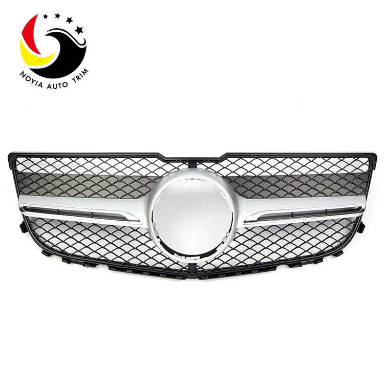 Benz GLK Class X204 AMG Style 13-15 1-Fin Silver Front Grille