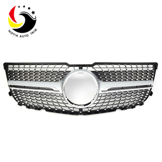 Benz GLK Class X204 Diamonds 13-15 Silver Front Grille