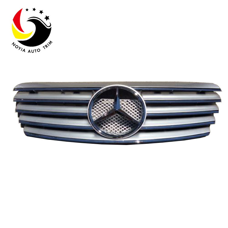 Benz CLK Class W208 Sport Style 98-02 Silver Front Grille