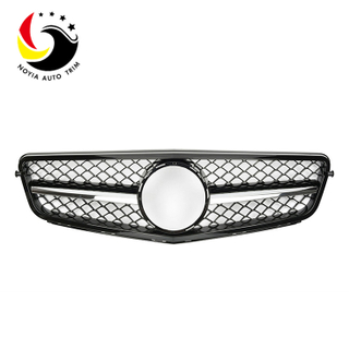 Benz C Class W204 C63 Style 07-14 Gloss Black Revised 1-Fin Front Grille