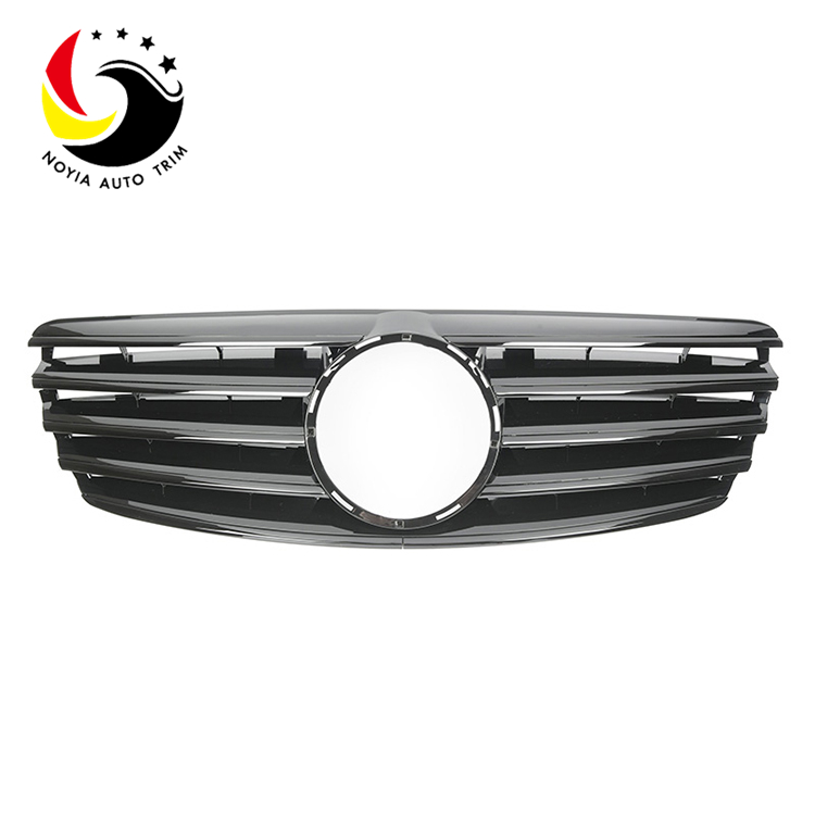 Benz E Class W211 Sport Style 03-06 Gloss Black Front Grille