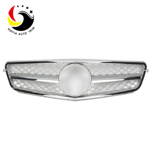 Benz C Class W204 C63 Style 07-14 Silver 1-Fin Front Grille