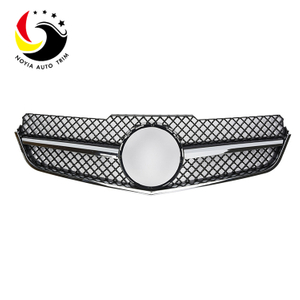 Benz E Class W207 AMG Style 10-13 Chrome Black 1-Fin Front Grille