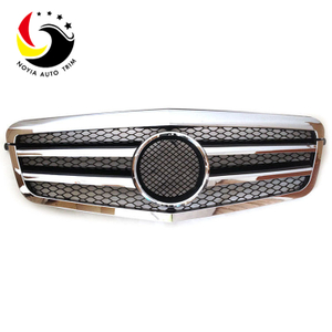 Benz E Class W212 AMG Style 09-10 Chrome Silver 2-Fin Front Grille