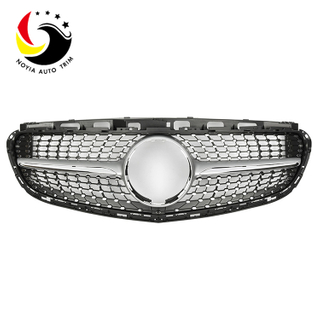 Benz E Class W212 Sport Style Diamonds 14-15 Silver Front Grille