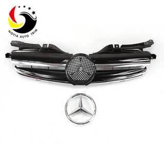 Benz SLK Class W170 Sport Style 98-04 Chrome Black Front Grille