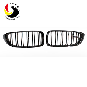 Bmw 4 Series F32/F33/F36/F80/F82/F83 14-IN 2-Slat Gloss Black Front Grille