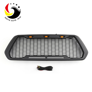 Raptor Style ABS Mesh Grille For 16-2018 Tacoma With 3 Amber LED Lights C